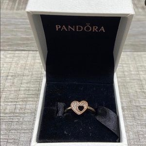 Retired Pandora double heart ring💖